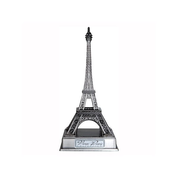 tour eiffel vieil argent taille 2 10 cm sur socle. Black Bedroom Furniture Sets. Home Design Ideas
