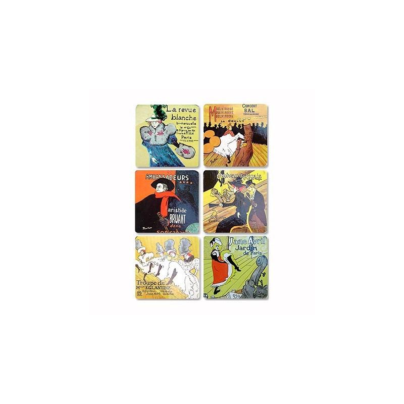 Dessous de Verre Affiches Toulouse-Lautrec