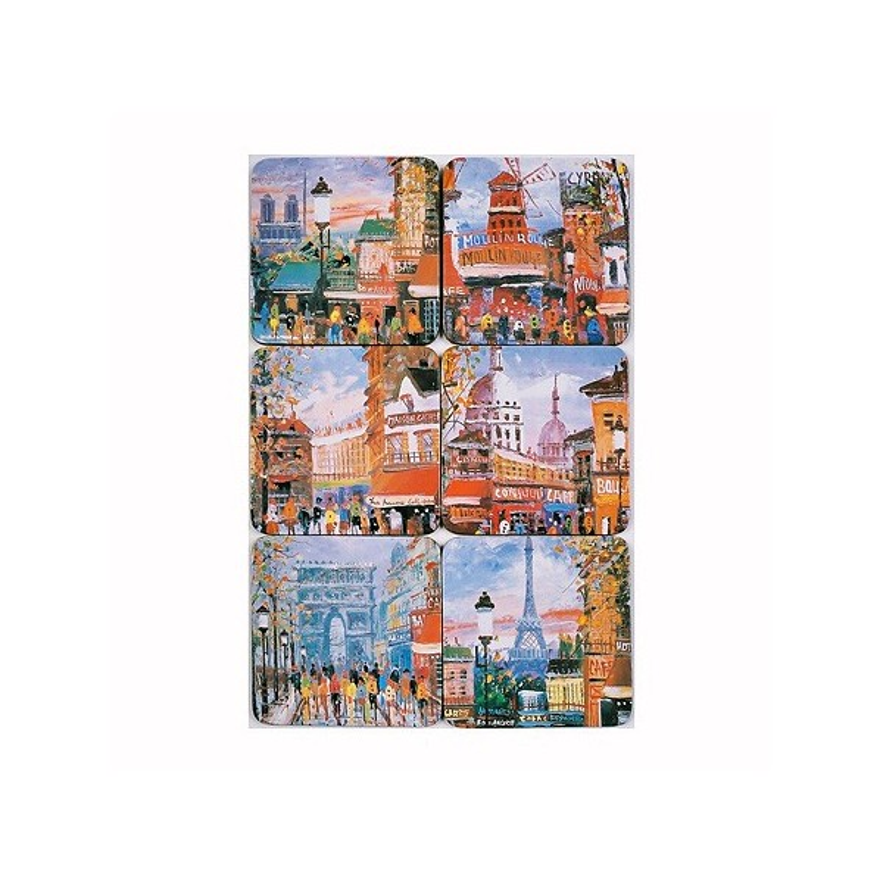 Dessous de Verre Paris Peinture à Huile