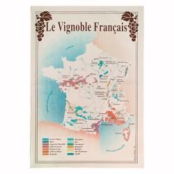 Torchon Plan des Vignobles Français