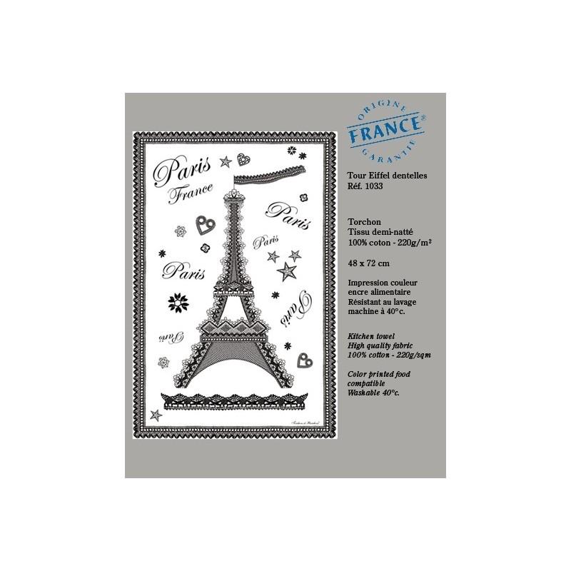 Torchon Tour Eiffel dentelle