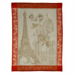 Torchon Jacquard Paris Fleuri