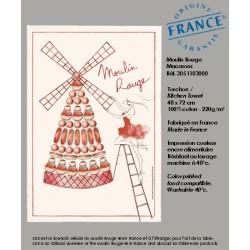Torchon Moulin Rouge® en Macarons