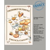 Torchon Plan de France des Fromages