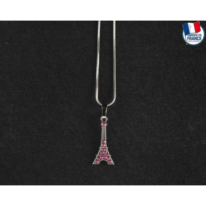 Collier Tour Eiffel Rose