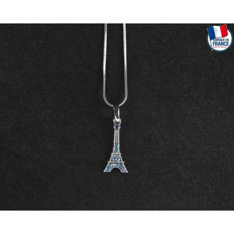 Collier Tour Eiffel Saphir