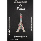 Pin Tour Eiffel bleu blanc rouge strass