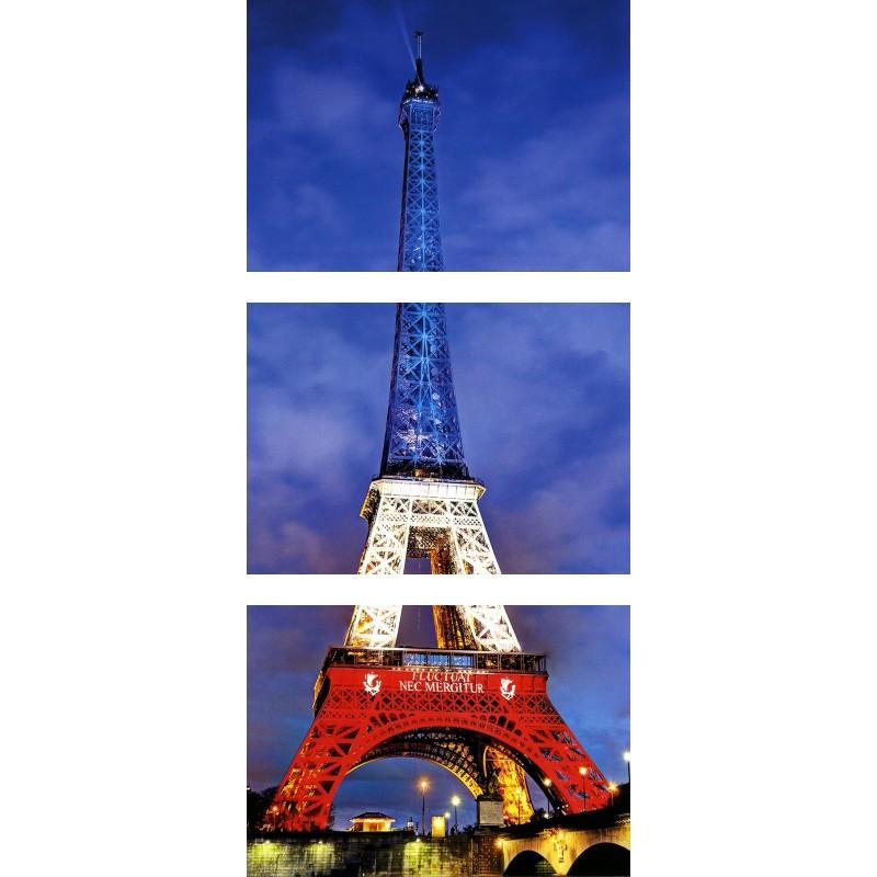 3 Cartes Postales de la Tour Eiffel
