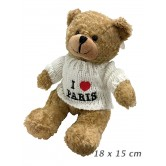 Ours Peluche I Love Paris