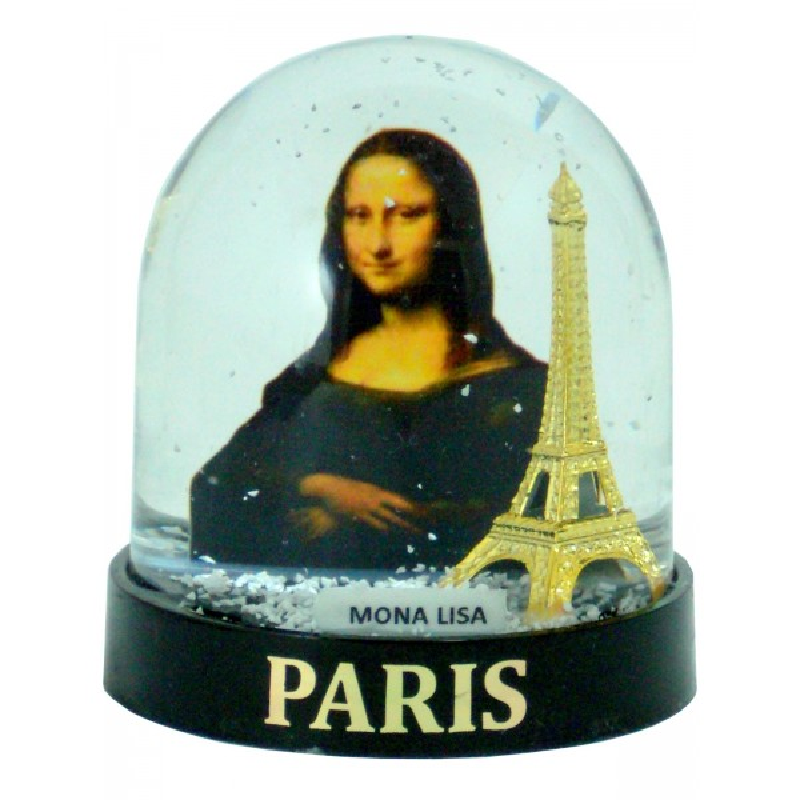 Boule de Neige Tour Eiffel Mona Lisa (Grande) - Fabrication Française