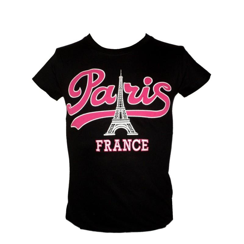 T-shirt Paris Vintage coupe Femme