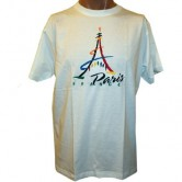 T-shirt Tour Eiffel Paint