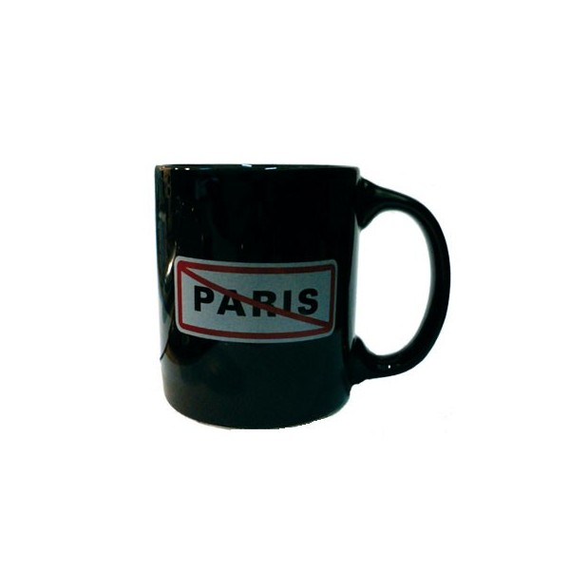 Tasse Plaque Paris noir