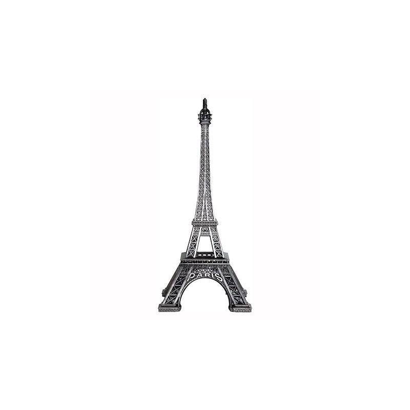 Tour Eiffel Vieil Argent 13 cm face