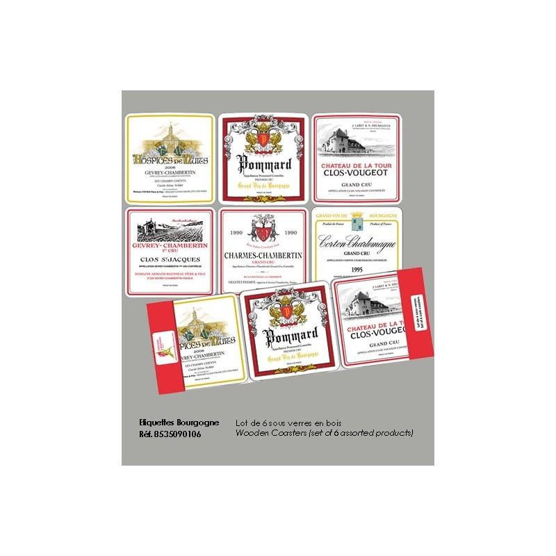 Dessous de Verre Vins de Bourgogne