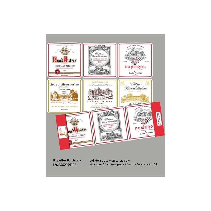 Dessous de Verre Vins de Bordeaux