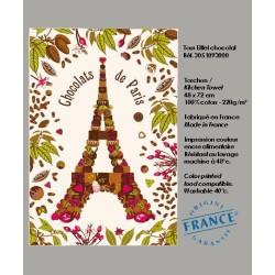 Torchon Tour Eiffel en Chocolat
