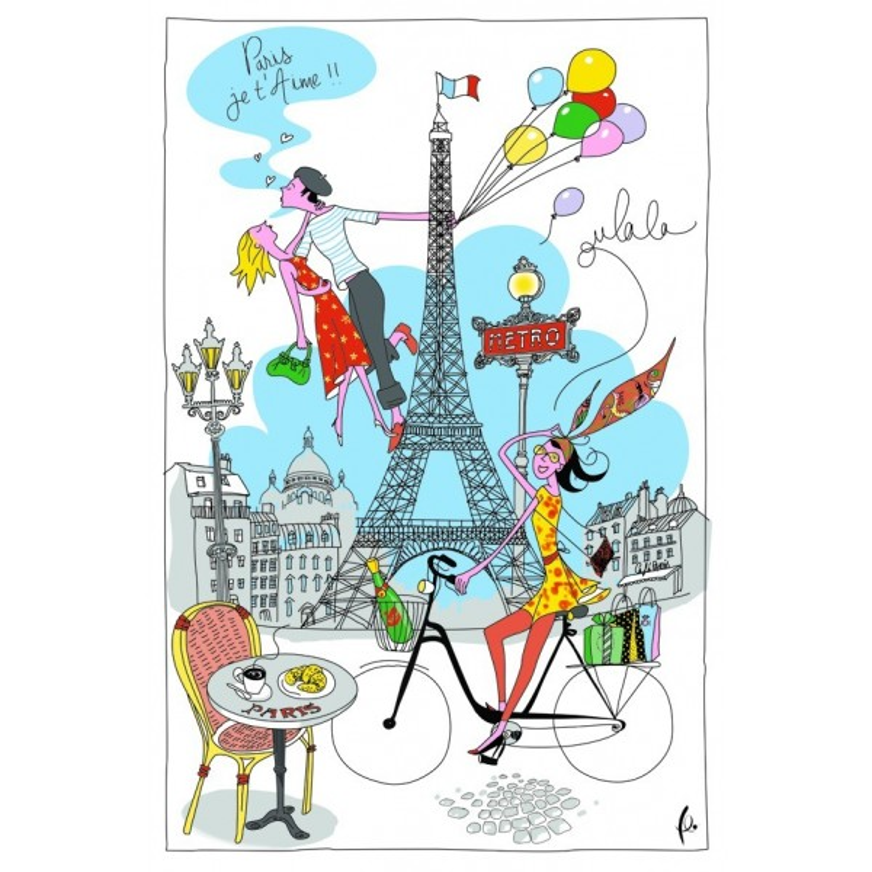 Torchon Tour Eiffel la Parisienne