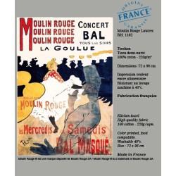 Torchon Moulin Rouge® La Goulue