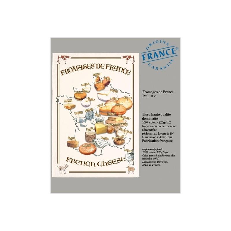 Torchon Plan de France des Fromages