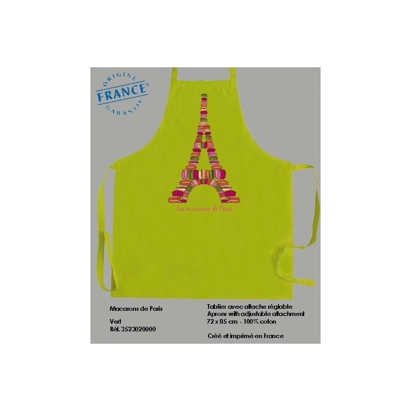 Tablier Macarons de Paris - Vert