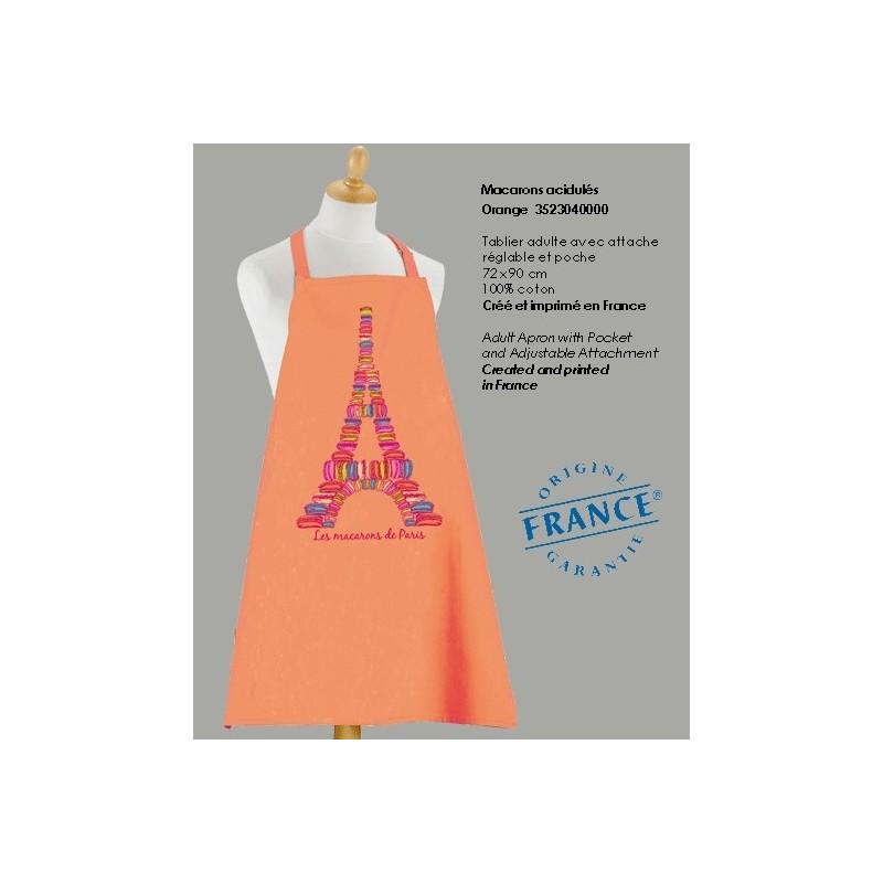 Tablier Macarons de Paris - Orange