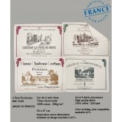 Sets de table Les Vins de Bordeaux - Lot de 4