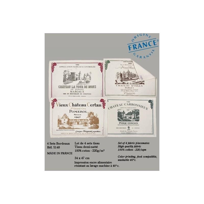 """Sets de table """"Les Vins de Bordeaux"""""""