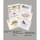 "Sets de table ""Les Vins de Bourgogne"" - lot de 6"