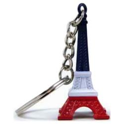 Porte-clé Tour Eiffel Bleu/Blanc/Rouge