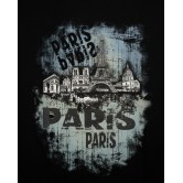 T-Shirt Skyline Bleu Paris