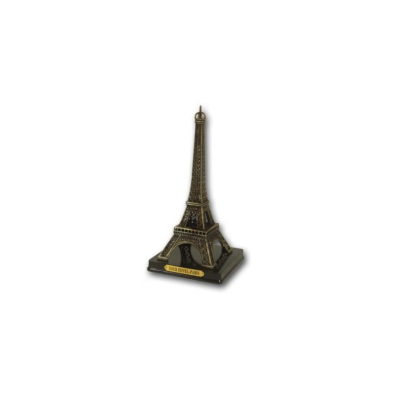 Tour Eiffel sur socle bois - 14 cm