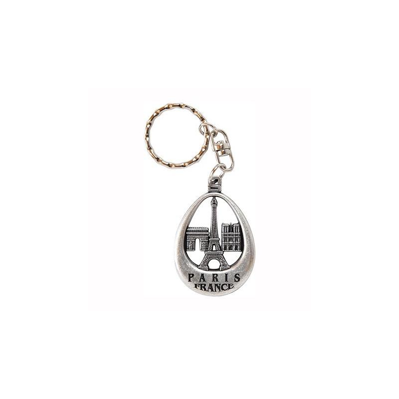 Porte-clé œuf Tour Eiffel et monuments de Paris