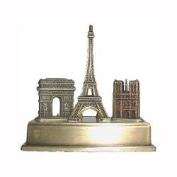 Trois monuments sur socle métal - Petit