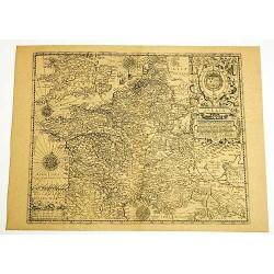 Carte de la France en 1593
