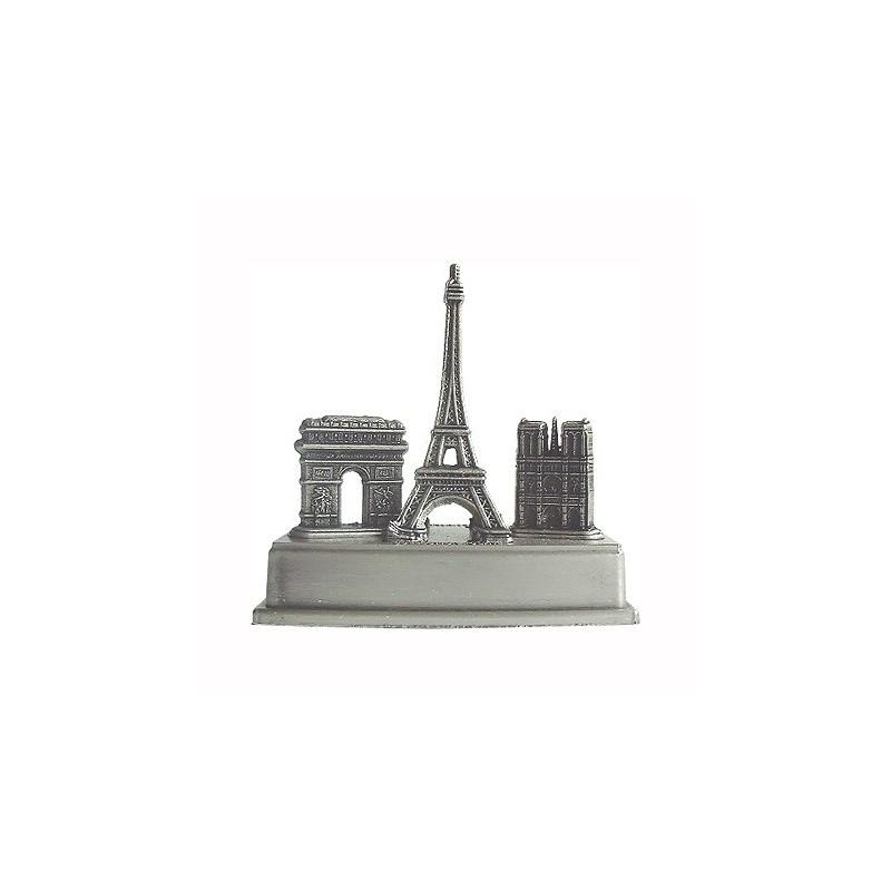 3 monuments sur base de metal Petit