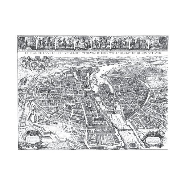 Carte de Paris en 1632