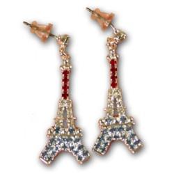 Boucles Tour Eiffel strass