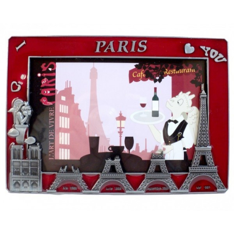 Cadre Photo Construction Tour Eiffel Rouge