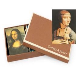 Coffret Luxe Jeu de Cartes Leonardo Da Vinci