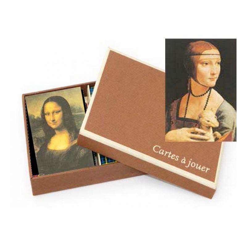 """Coffret Luxe Jeu de Cartes """"Leonardo Da Vinci"""""""
