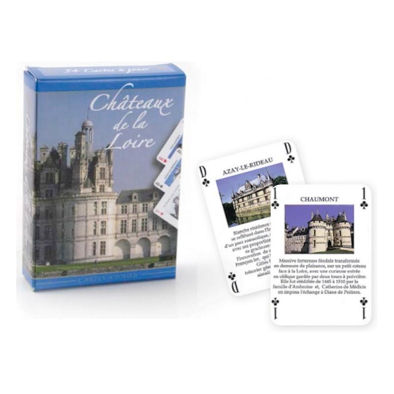 """Jeu de cartes """"Chateaux de la Loire"""""""