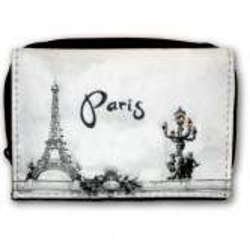 """Porte-feuille """"Paris strass"""" N/B"""
