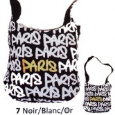 "Sac Besace ""Paris Flashy"""