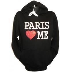 """Sweatshirt pour femme """"Paris Love Me"""""""