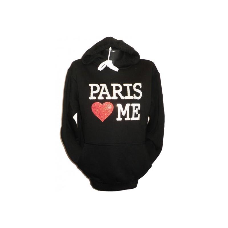 Sweatshirt pour femme Paris Love Me