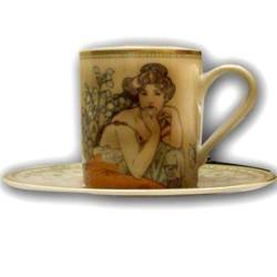 Tasse à café, La Topaz, MUCHA