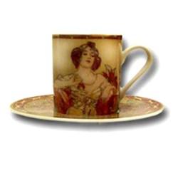 Tasse à café, Le Rubis, Mucha