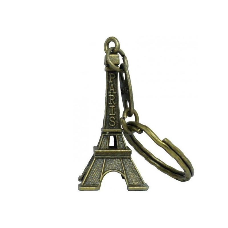 Porte clé tour Eiffel 3D bronze