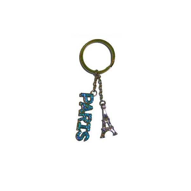 Porte-clé Paris bleu ciel